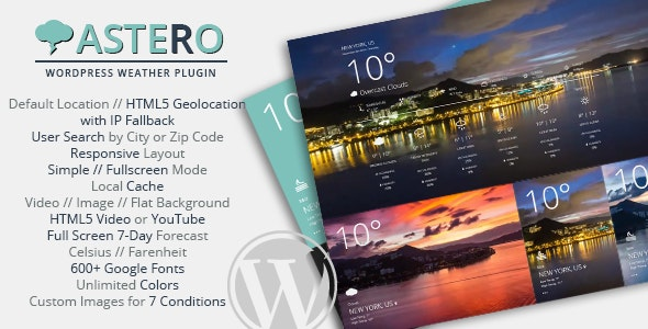 Astero - WordPress Weather Plugin - CodeCanyon Item for Sale
