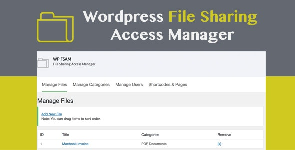 WP FSAM - File Sharing Access Manager - CodeCanyon Item for Sale