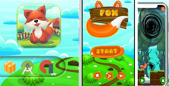 Super Lucky Fox adventure Game - Template Buildbox