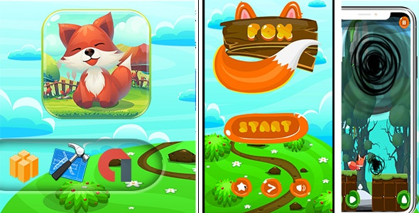 Super Lucky Fox adventure Game - CodeCanyon Item for Sale