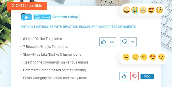 Everest Comment Rating - Display Like/Dislike With Reaction Emojis For WordPress Comments