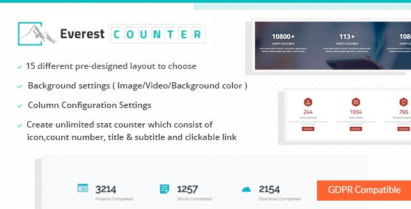 Everest Counter - Beautiful Stat Counter Plugin for WordPress