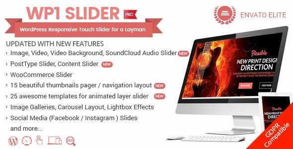WP1 Slider Pro - WordPress Responsive Touch Slider for a Layman