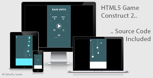 Rain Dots - HTML5 Game (Construct 2)