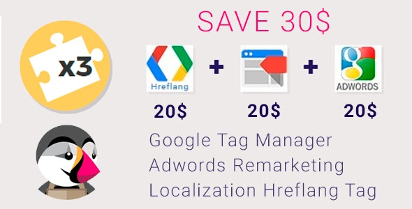Google Tag Manager, Adwords Remarketing and Hreflang - CodeCanyon Item for Sale