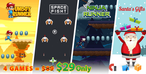 Mega Bundle 4 Games - iOS Xcode + Buildbox - CodeCanyon Item for Sale