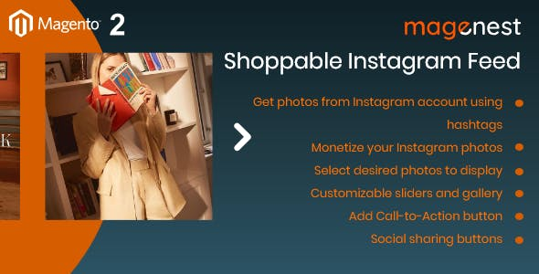 Magento 2 Shoppable Instagram Feed