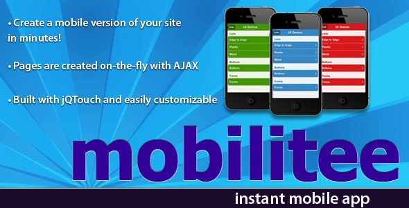 Mobilitee -- Mobile App Creator - CodeCanyon Item for Sale