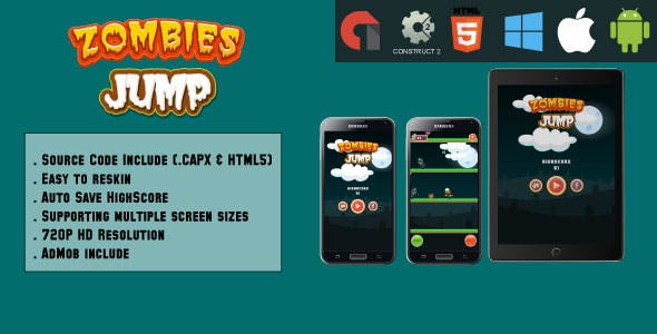 Jumping Monsters - HTML5 Game - Mobile & Web (HTML5 & CAPX)