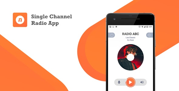 Single Channel Streaming Radio Application with Dynamic Backend - CodeCanyon Item for Sale