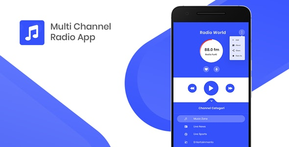 Multi Channel Streaming Radio with Dynamic Backend - CodeCanyon Item for Sale