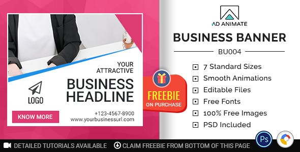 Business Banner - HTML5 Ad Template (BU004) - CodeCanyon Item for Sale