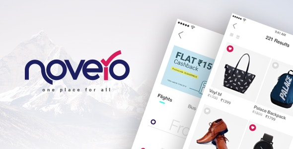 Novero- A Mobile Payments System Template - CodeCanyon Item for Sale