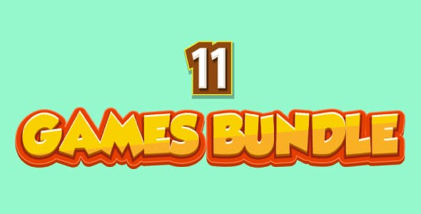 Bundle N°2 : 11 HTML5 GAMES (CAPX + HTML5) & MORE Than 85% OFF