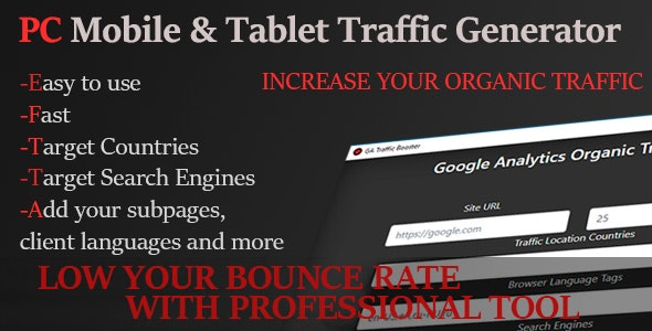 PC and Mobile Organic Traffic Generator - CodeCanyon Item for Sale