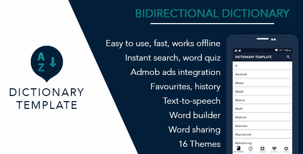 Bidirectional Dictionary Template for Android - CodeCanyon Item for Sale