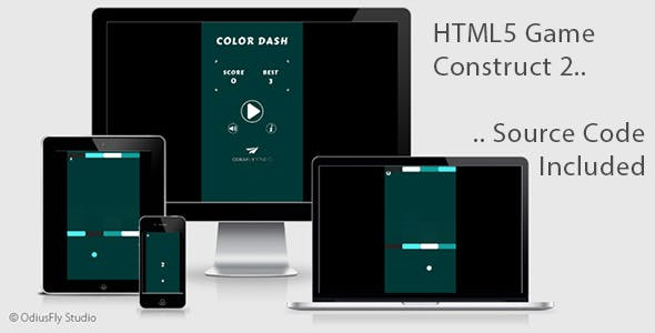 Color Dash - HTML5 Game (Construct 2)