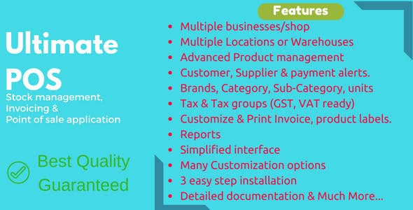 Ultimate POS - Best Advanced Stock Management, Point of Sale & Invoicing application - CodeCanyon Item for Sale