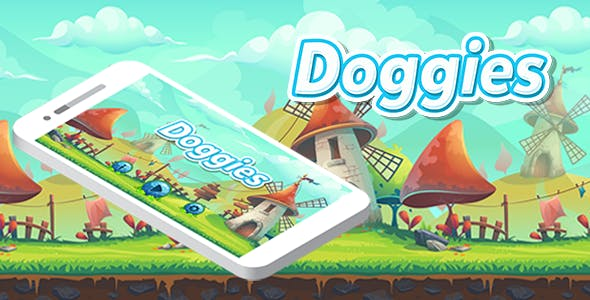 Doggies Game Template Bundle Android iOS Buildbox With Admob Interstitial Ads