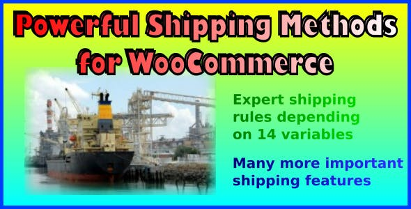 Powerful Shipping Methods for WooCommerce        Nulled