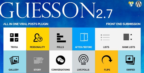 GuessOn - All in one Viral Quiz & Polls -Wordpress