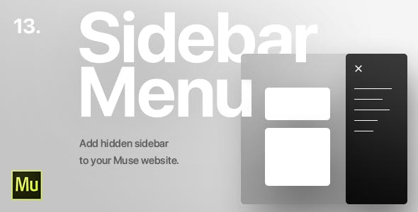 13 | Hidden Sidebar Menu for Adobe Muse CC