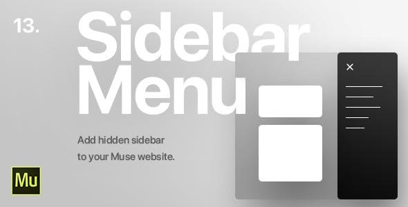 13 | Hidden Sidebar Menu for Adobe Muse CC