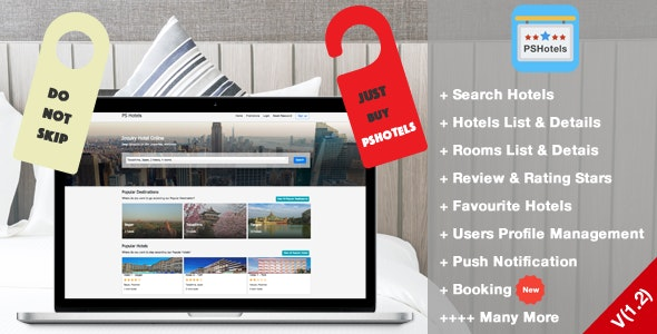 PSHotels Website (Ultimate Hotels Finder Website With Backend) 1.3 - CodeCanyon Item for Sale