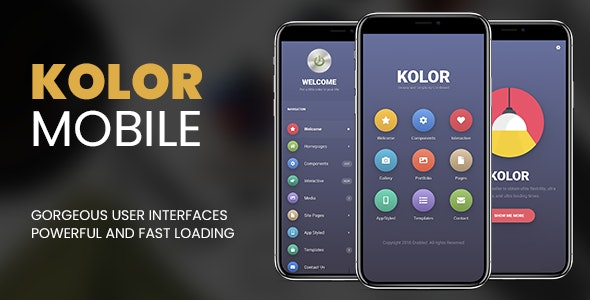 Kolor | PhoneGap & Cordova Mobile App - CodeCanyon Item for Sale