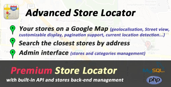 Advanced PHP Store Locator - CodeCanyon Item for Sale