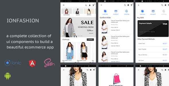 IonFashion Ecommerce UI