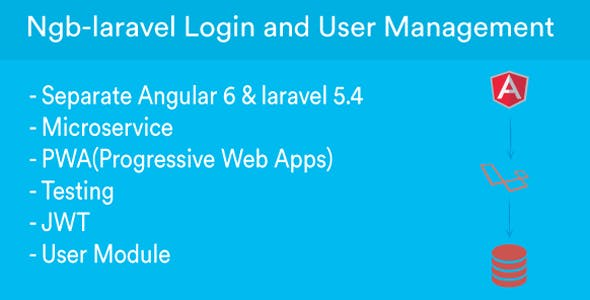 ngb-laravel - CRUD Angular & Laravel REST API on JWT + Angular6 + Bootstrap