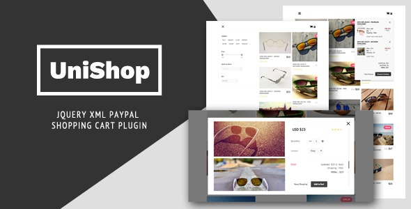 UniShop - jQuery XML PayPal Shopping Cart Plugin - CodeCanyon Item for Sale