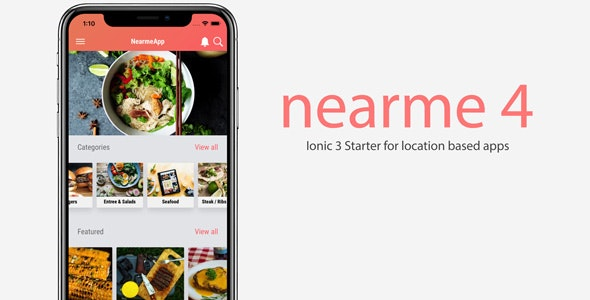 Nearme - Ionic 3 Starter for Location Based Apps - CodeCanyon Item for Sale