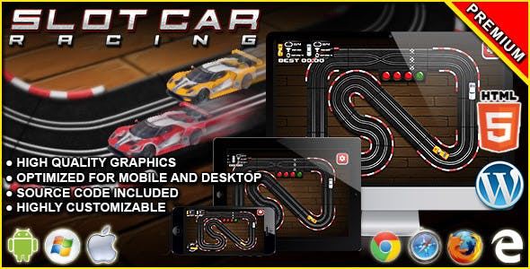 Slot Car Racing - HTML5 Racing Game