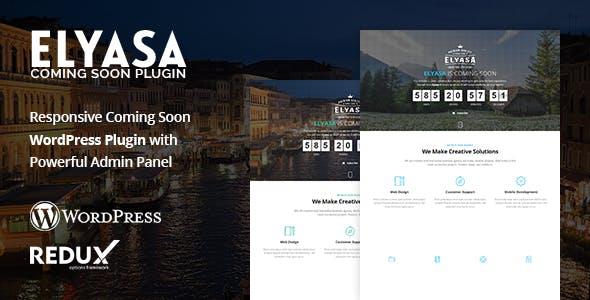 Elyasa - Responsive Coming Soon WordPress Plugin