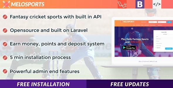 MeloSports - Fantasy Cricket Laravel Software Php Script by Melothemes