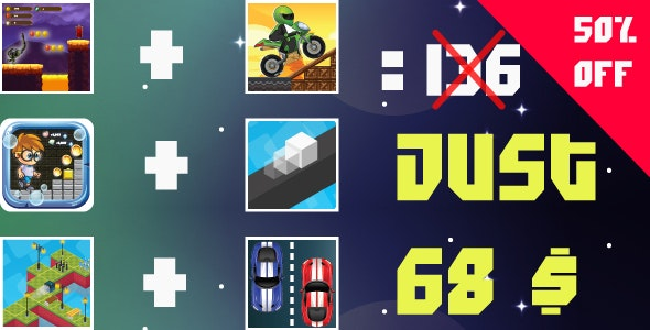 Bundle 6 Games Android  with different Gameplay - CodeCanyon Item for Sale