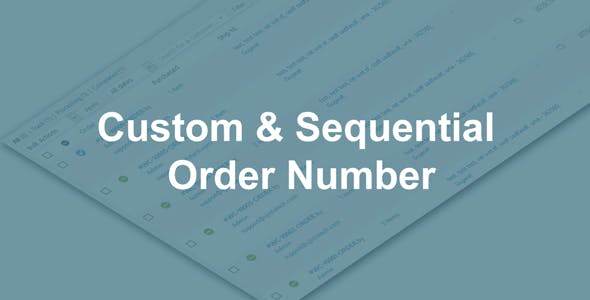 Woo Custom and Sequential Order Number