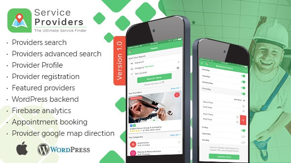 Listingo - Service Providers, Business Finder IOS Native App - CodeCanyon Item for Sale