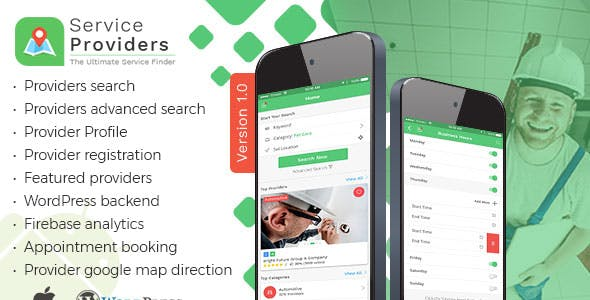 Listingo - Service Providers, Business Finder IOS Native App