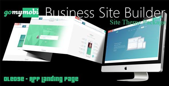 gomymobiBSB's Site Theme: Oleose - App Landing Page