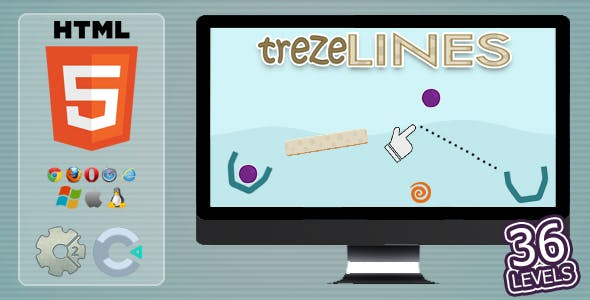 trezeLines - HTML5 Casual Game