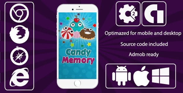 Candy Memory Game + Admob