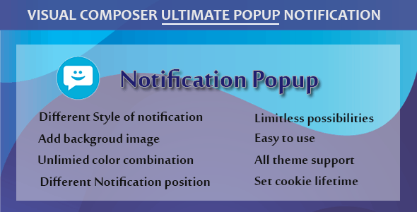 Visual Composer - Ultimate Popup Notification - CodeCanyon Item for Sale