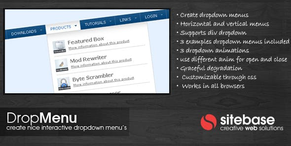 Drop Menu        Nulled