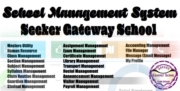 School Management System (Seeker Gateway) Open Source Full ERP MVC 5 - CodeCanyon Item for Sale