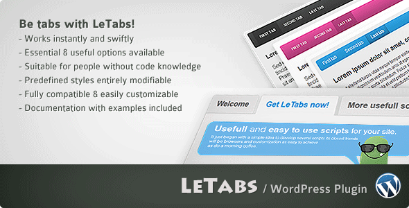 LeTabs WordPress - CodeCanyon Item for Sale