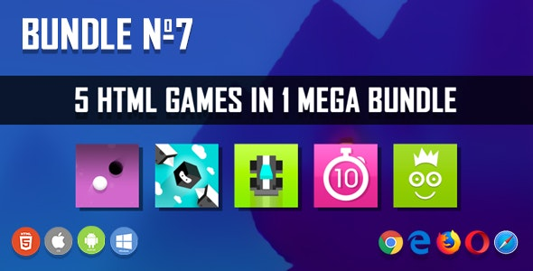 5 HTML5 Games + Mobile Version!!! BUNDLE №7 (Construct 2 / CAPX) - CodeCanyon Item for Sale