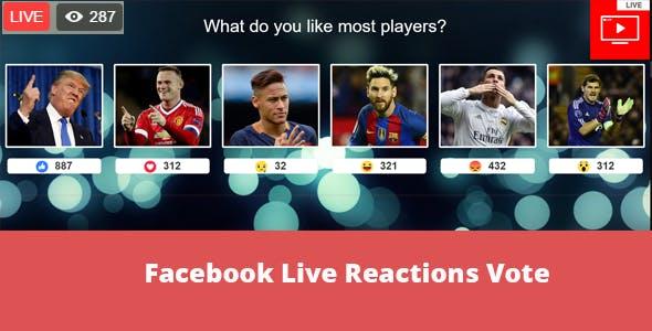 Facebook Live Reactions Vote